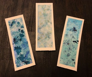 Watercolor Leaf Print Bookmarks