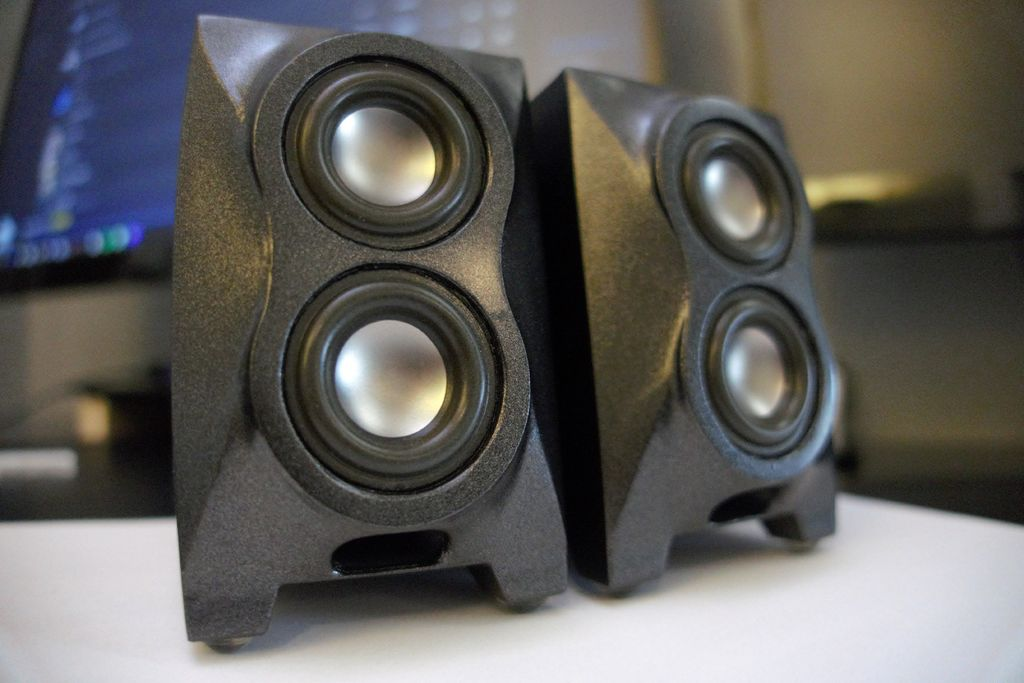 Picture of *Tiny* High-Fidelity Desktop Speakers (3D Printed)