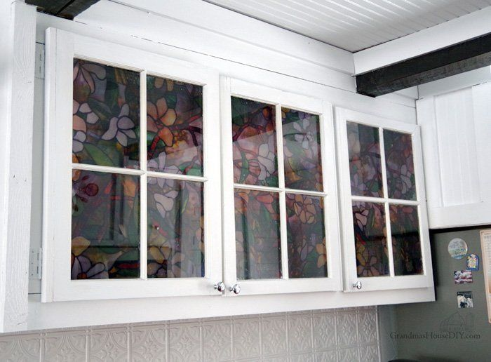 Picture of Applying Window Film to My Glass Kitchen Cabinet Doors