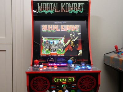 Arcade1Up Mod With LED Marquee and Sub-Displays