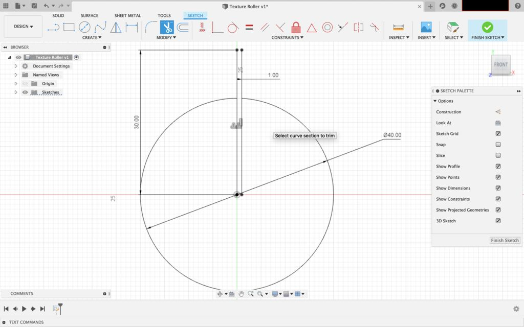 Picture of Design the Texture Roller in Fusion 360