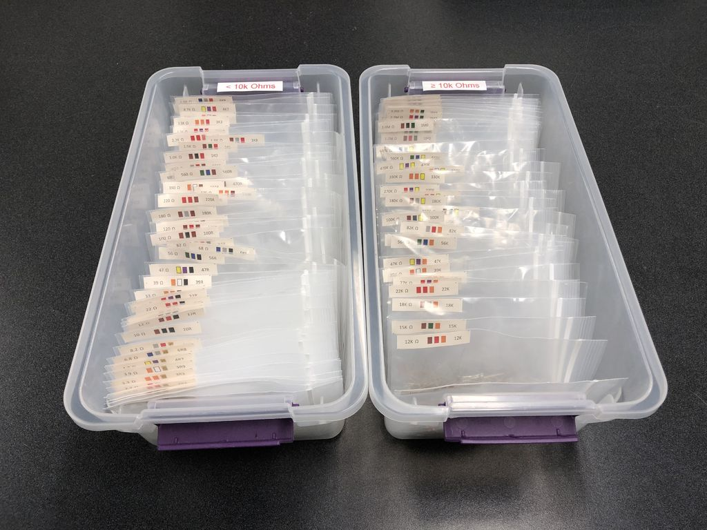 Picture of Electronic Resistor Organizer