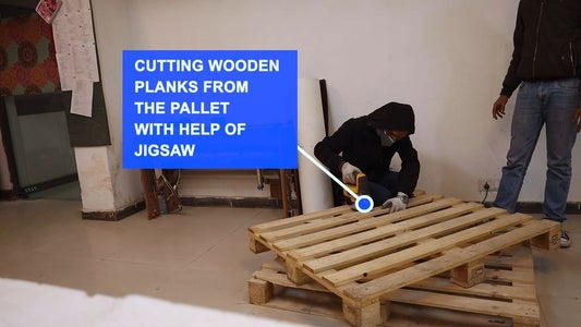 Collecting the Pallets and Cutting Them