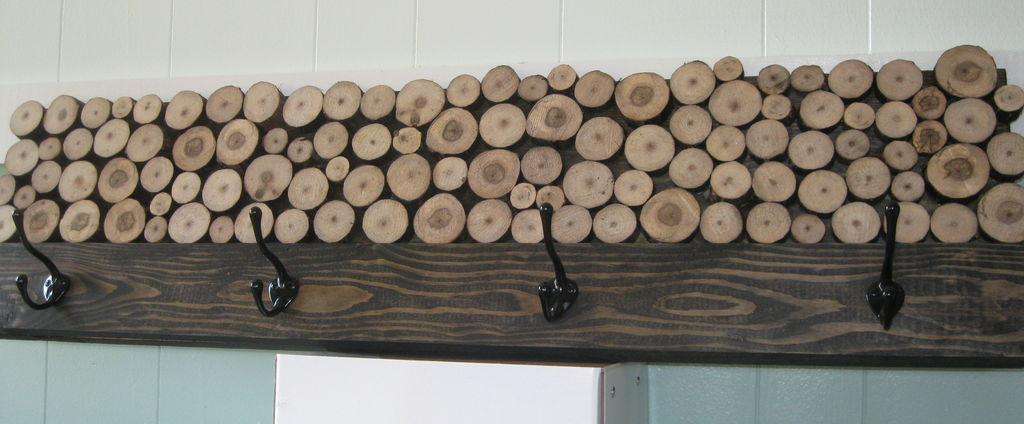 Wood Slice Coat Rack