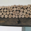Wood Slice Coat Rack