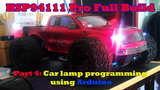 Programming Sidelight, Headlights and Undercarriage for RC Cars With Arduino Nano - HSP94111 Pro
