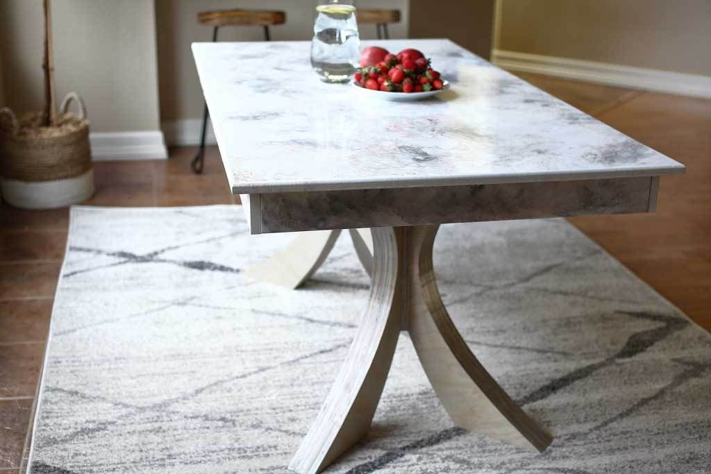 Picture of DIY Kitchen Table With Stone Coat Epoxy