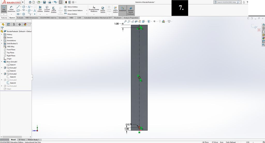 Picture of Creating the Border Columns