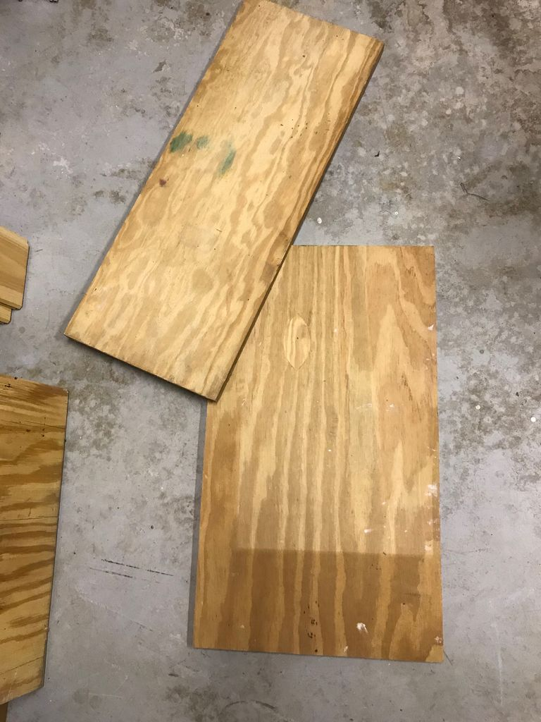 Picture of Cut Out Pieces of Wood (Box)