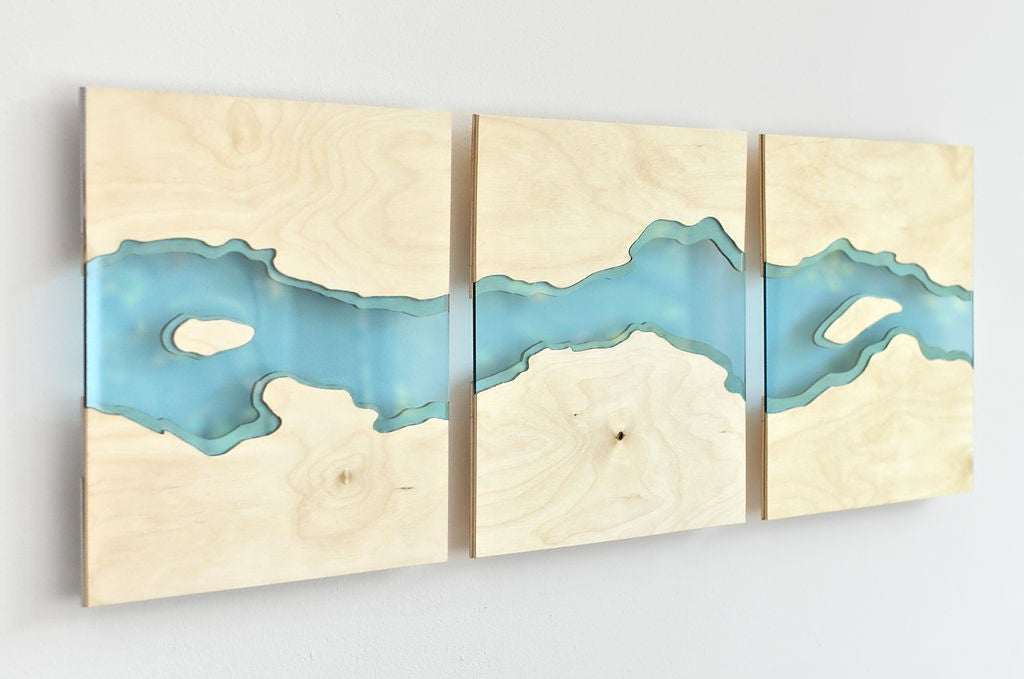 Picture of Laser Cut River Wall Art