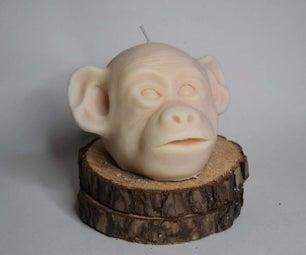 Monkey Candle Sculpture