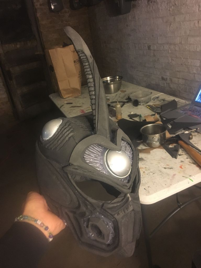 Picture of Helmet: Antenna and Top of Head (part 2)