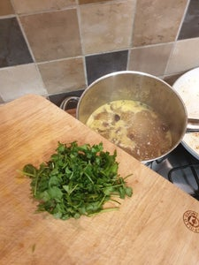 Add the Coriander and Blend