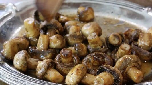 Toss Mushrooms in Butter Sauce