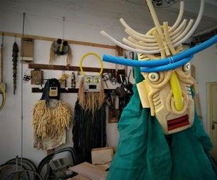 仪式面具从废纸篓