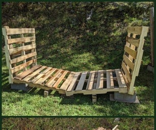 Pallet Rack for Storing a Cord of Firewood
