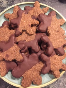 Espresso Chocolate Dipped Shortbread Cookies