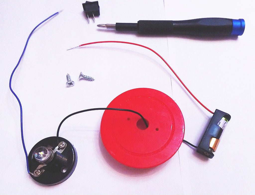 Picture of Assembly - Bulb and Battery