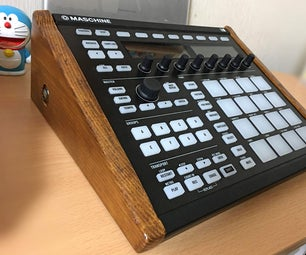 Elevated Wood Side Panels for Maschine