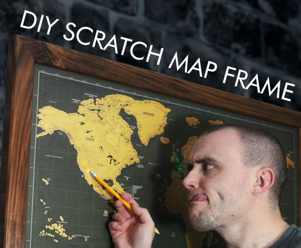 Picture of How to Make a Picture Frame for a Scratch Map