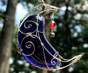 如何设计(和完成!)一个金属丝包裹的月亮吊坠