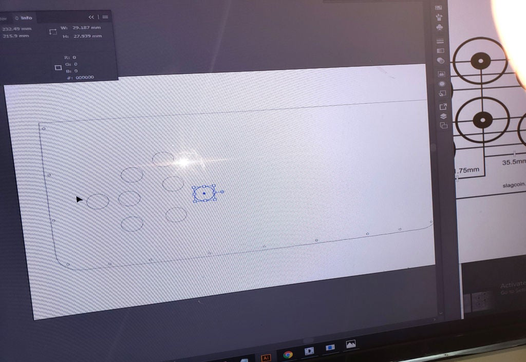 Picture of Testing the Computer and Beginning to Layout Button Positions