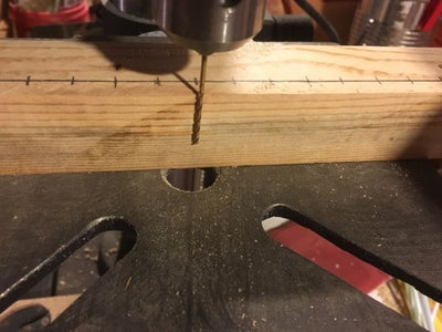 Measure and Drill Pin Holes.