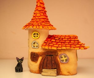 DIY Fairy House From Two Jars