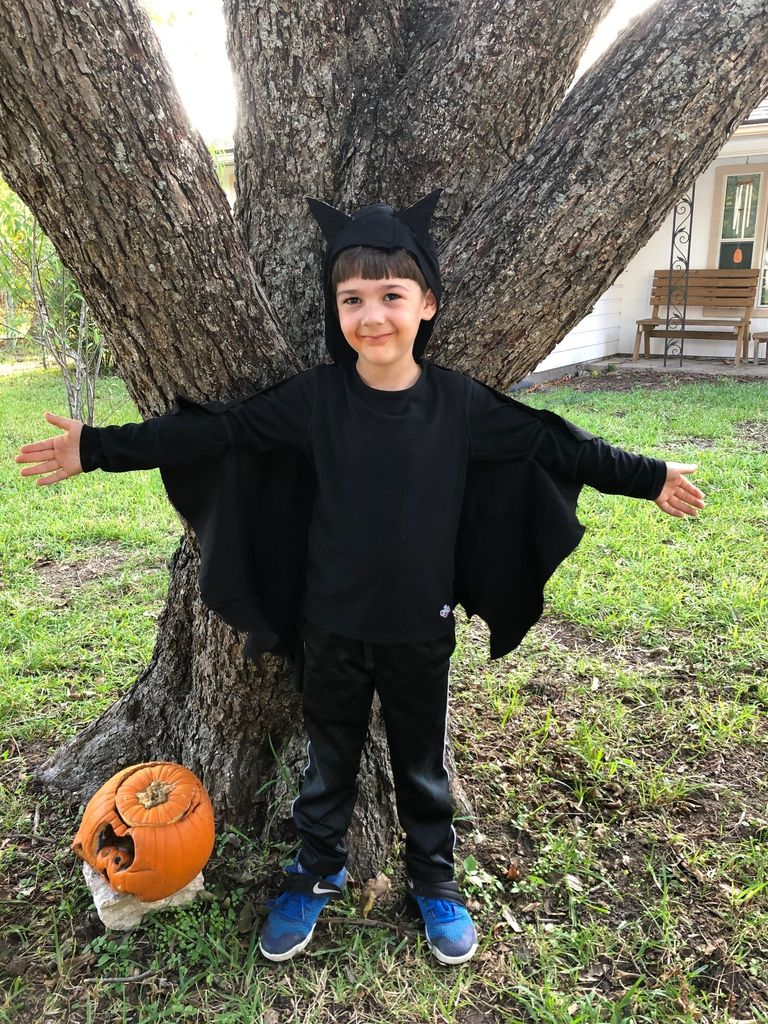 Picture of Easy, Adorable Kids Bat Costume!