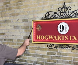 Magical Hogwarts Express Sign