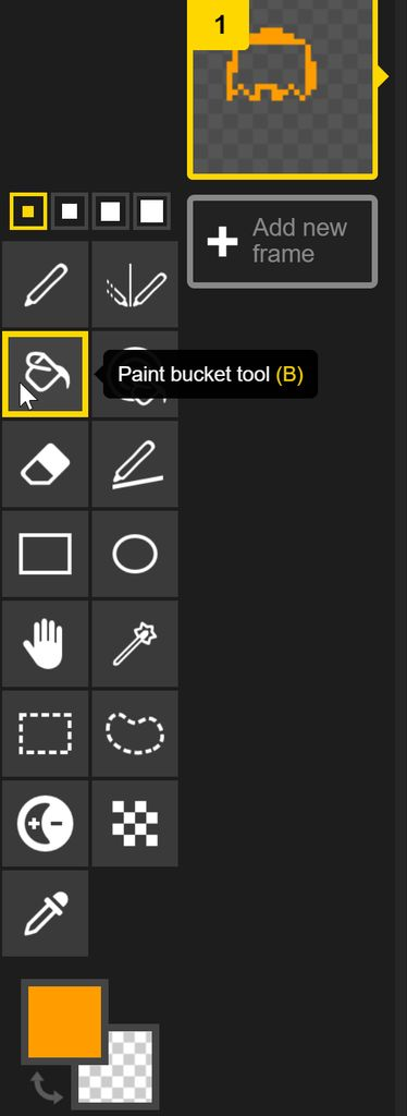 Picture of Introduce the Paint Bucket Tool and Fill the Body With Color