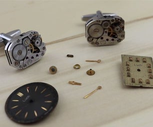 制作自己的手表运动袖扣