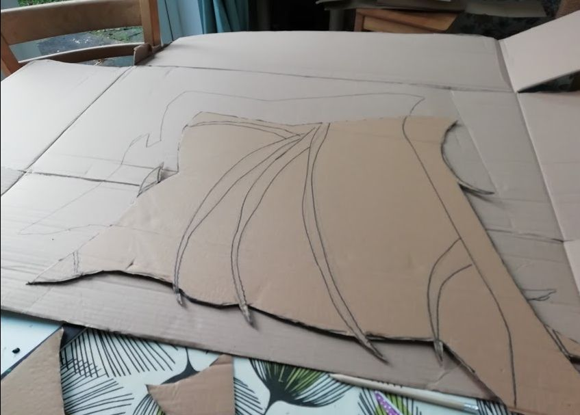 Picture of Making the Wings- Part 1- Cutting Them Out and Fiddling Around With Templates.