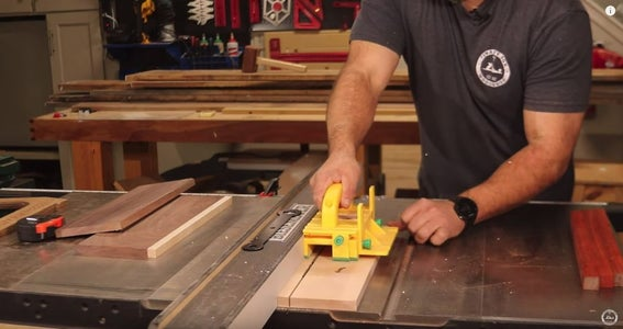 Chose Your Wood and Cut to Length and Width