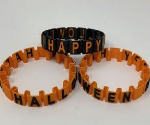 "Happy Halloween ""Somewhat Stretchy"" Bracelet."