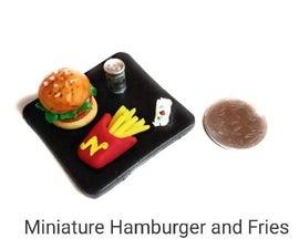 Miniature Hamburger and Fries