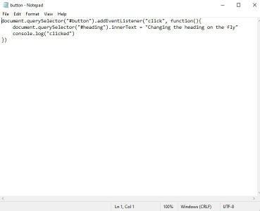 Create Your Javascript File