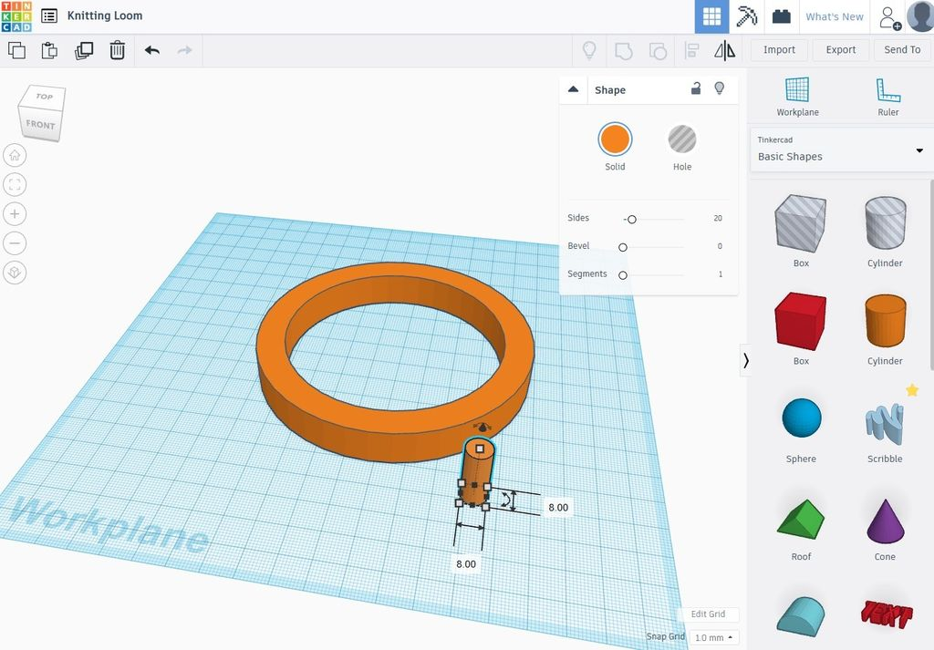 Picture of Designing the Loom in Tinkercad - Part 2