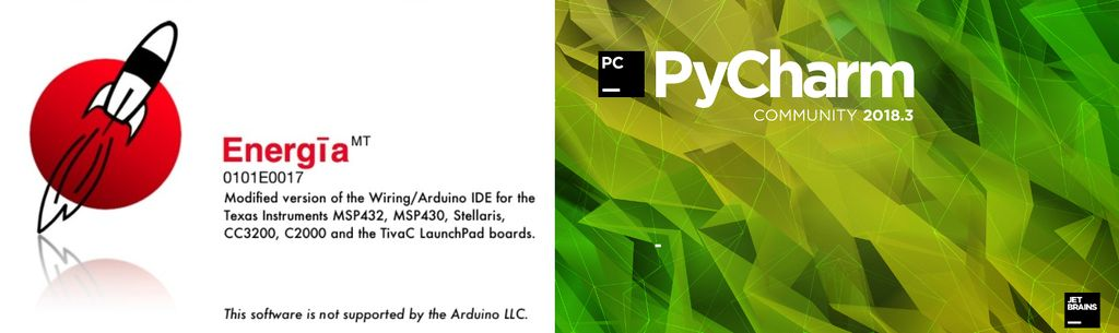 Picture of Software - Energia IDE, PyCharm