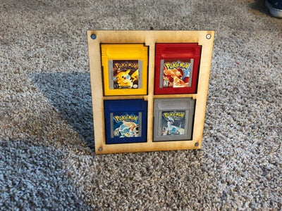 Gameboy Cartridge Display and Shelving
