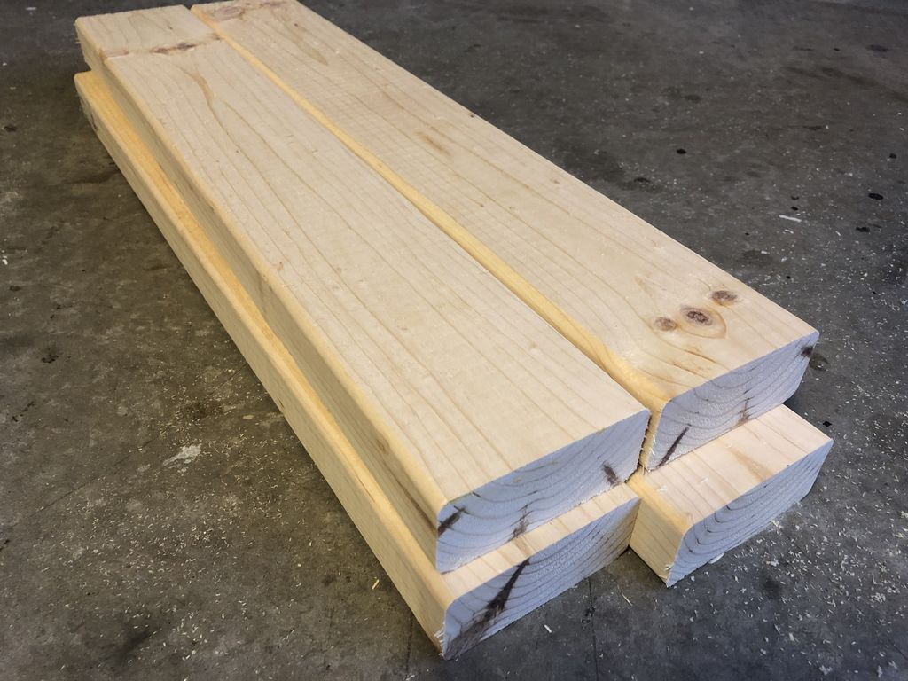 "Picture of Cut Four 2x4""s to 22 Inches Long"