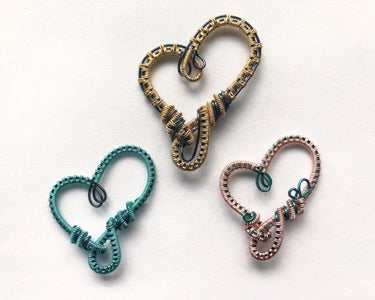 Woven Wire Hearts