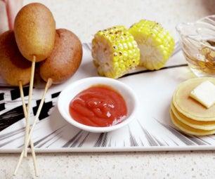 Mini Corndog With Bonus Cornmeal Pancake Recipe