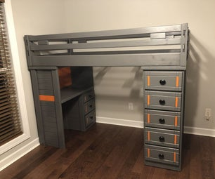 Upgrading a Solid-Wood Bunk Bed