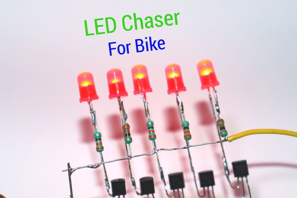 Picture of How to Make LED Chaser Using NE555 IC BC547