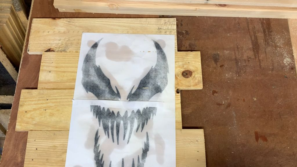 Picture of Attaching the Stencil and Cutting the Face Out