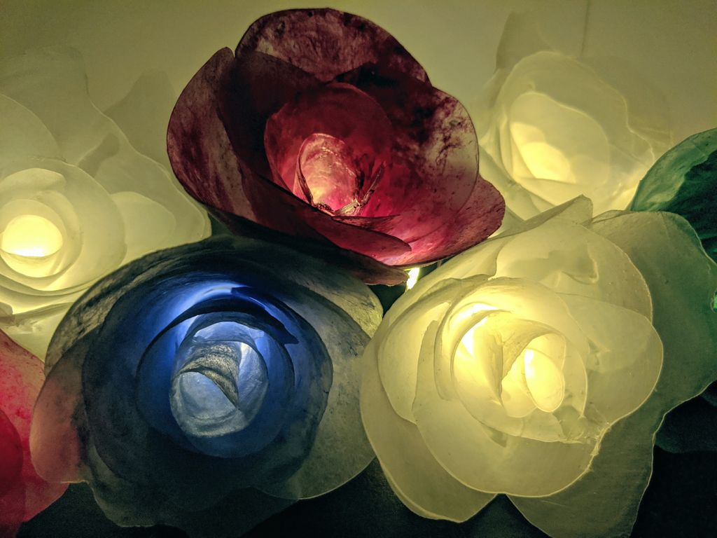 Picture of Hot Glue Flower Lights