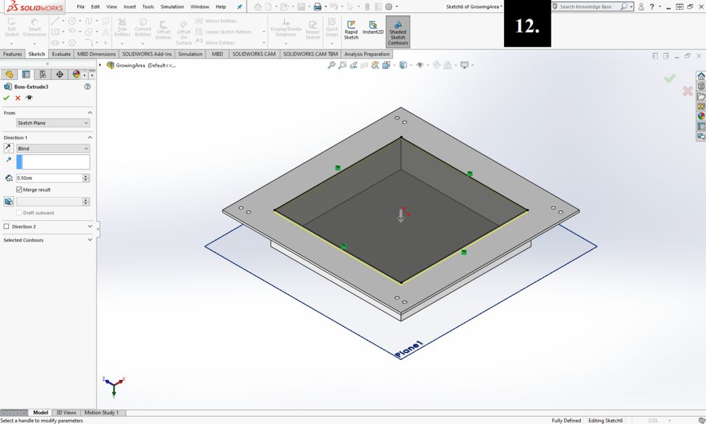 Picture of Creating the Growing Area (Floor)