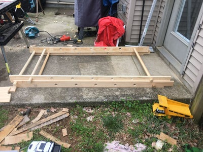 Cutting & Drilling the Top Ladder