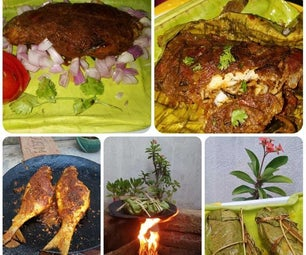 Fried Fish in Banana Leaf